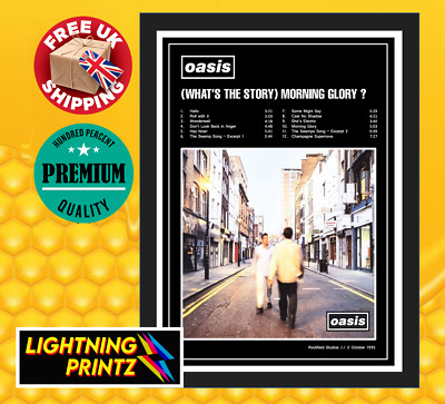 Oasis Whats the Story Morning Glory Album Cover Music Poster A4, A3, A2, A1, A0