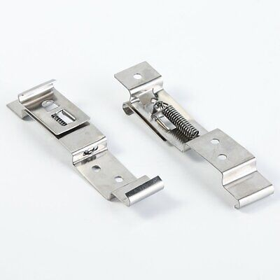 TRIDENT Pair of Oblong Number Plate Holder Quick Release Spring Clips