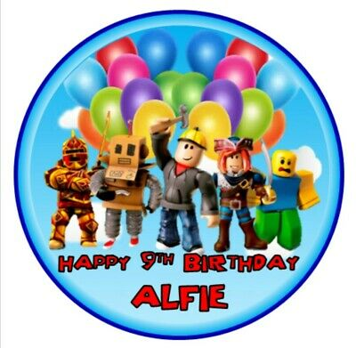 """Personalized ROBLOX decoration 7.5/"""" ICING WAFER edible cake topper"""