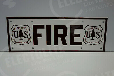"""FOREST SERVICE FIRE SIGN ENAMEL COAT 5/"""" BY 14/"""""""
