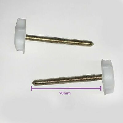 2 x M8 HEADBOARD BOLTS SCREWS WITH FITTED WASHERS FIXINGS FOR DIVAN BED 2 x M8 BOLTS WITH FITTED WASHER