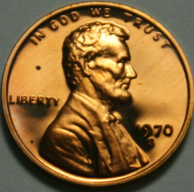 1980-S Lincoln Memorial Cent Proof Red Penny Nice No Problem Coin