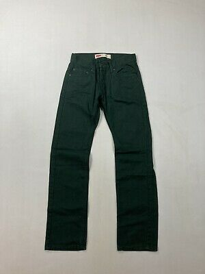 LEVI'S 511 SLIM CORD Jeans - W26 L26 - Green - Great Condition - Boy's