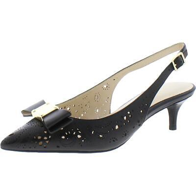 Cole Haan Womens Emberlee Leather Pointed Toe Dressy Wedge Heels Shoes BHFO 3599