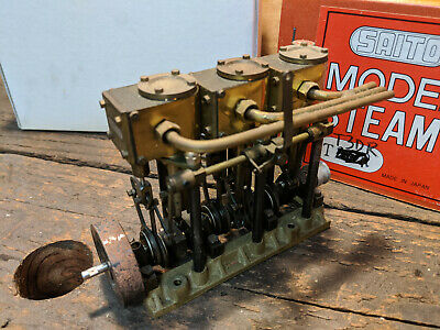 Saito T3dr Model Steam Engine Vertical 3 Double Acting Cylinders 950 00 Picclick