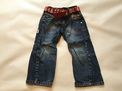 Boys GENUINE Next Blue Jeans SIZE Age 2-3 Years Old Vgc With Belt