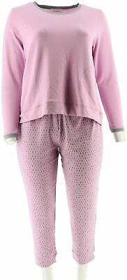 Stan Herman Petite French Terry Tunic Jogger Set Lavender PM NEW A301849
