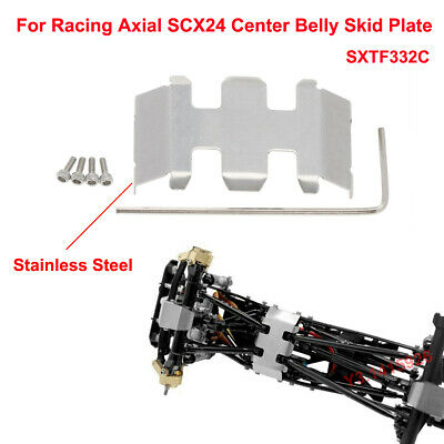 Details about  /For Racing Axial SCX24 Stainless Steel Center Belly Skid Plate SXTF332C 1Pc