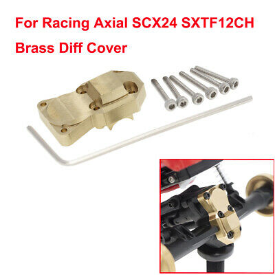 1Kit For Racing Brass Diff Cover Axial SCX24 SXTF12CH Worm gear Axles