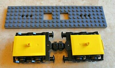 LEGO Train Wheels Assembly Carriage Axle /& Bearing Part Set 2878 57878 60197