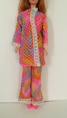 Barbie clone outfit Hong kong Maddie Mod tressy home made vintage blue gingham