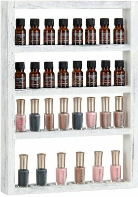 S28esong 3-Tier Essential Oil Display Storage Organizer Holder Stand Bamboo Ladder Type Display Shelf Stand Holder for 30ml Essential Oil 18 Slots Essential Oil Bottle Rack