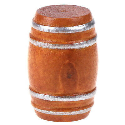 MULTI-BUY Miniature Wood Barrel for Doll/'s House or Toy Train Cargo X 10