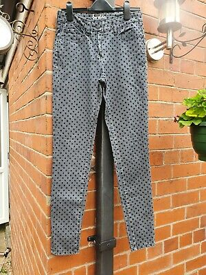 Boden Size 6R Grey Spotted Ankle Skimmer Skinny Jeans
