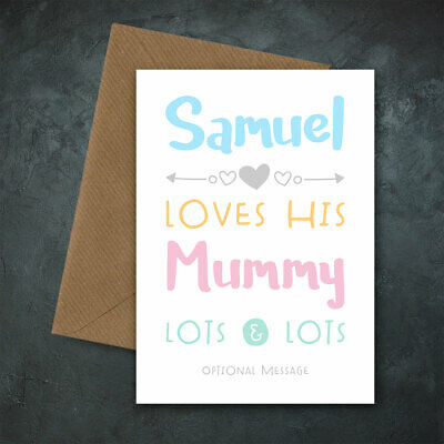 Girl Son Daughter Personalised Birthday Card Mum Mummy Mother from Little Boy