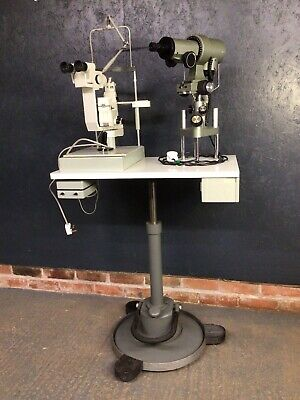 Opticians Kelvin Keratometer And Karl Zeiss Jena Chinrest On Adjustable Table