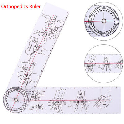 Goniometer Angle Medical Ruler Rule Joint Orthopedics Tool Instruments LD