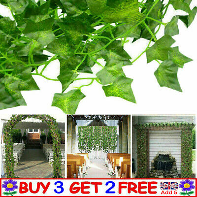 Artificial Hanging Plant Fake Vine Ivy Leaf Greenery Garland Party Wedding DecAT