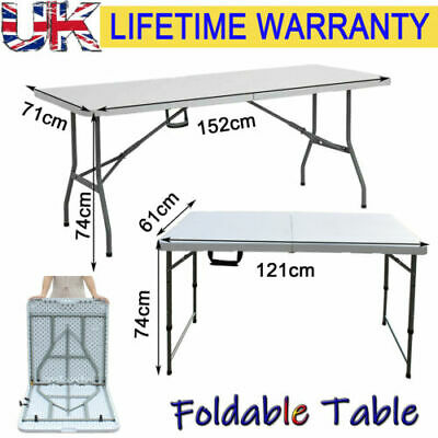 Catering Camping Heavy Duty Folding Trestle Table Picnic BBQ Party Portable NEW