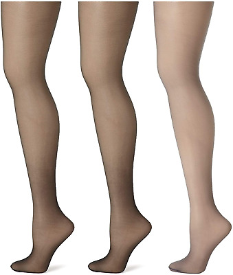 3 pack **SALE** 3 x Value Pack Bargain Glossy Tights Re-inforced Panty /& Toe