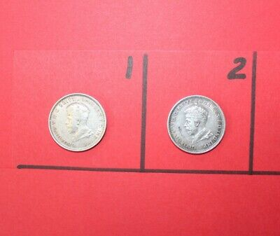 1927 Australian Canberra King George V One Florin/Two Shillings Silver Coins (2)