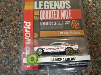 Auto World SC356-3 Legends of The Quarter Mile RAMCHARGERS 71 Challenger HO Scale Electric Slot Car