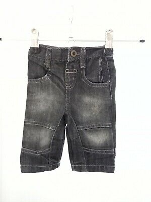 Baby Boys 0-3 Months Black Denim Jeans Trousers Bottoms Comfy Fashion Elastic