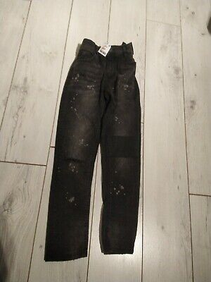 Brand new lovely  Boys NEXT Black Denim Jeans Age 12 years with adjustable waist