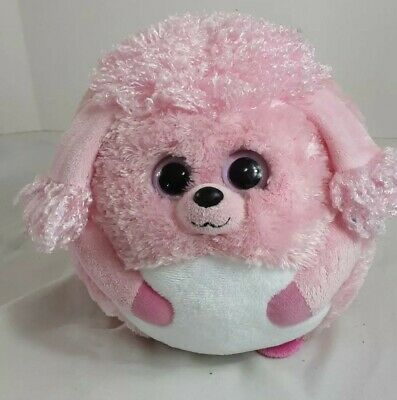 """Ty Beanie Ballz Lovey the Soft Pink Poodle Dog Large 13/"""" 33cm"""