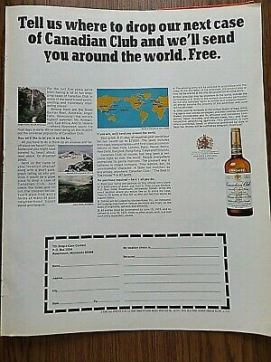 1972 Canadian Club Whiskey Ad  The Drop A Case Contest Sweepstakes