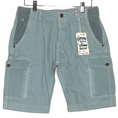 NEW Scotch Shrunk Cargo Shorts Blue Road Trip Boys Size 16