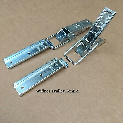 2 x HEAVY DUTY EXTRA LARGE Over Centre Catch /& Plate Trailers  #81305B