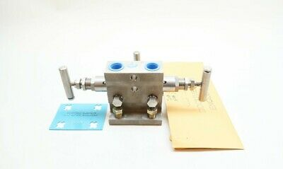 Anderson Greenwood M4THPS-4-XP Hydraulic Valve Manifold 3 Valve 1/2in Npt