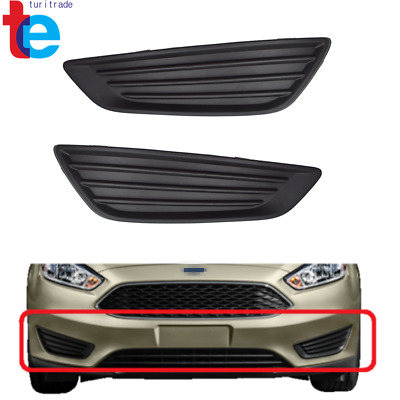 For Ford Focus 2015 2016 2017 2018 Pair Front Fog Light Lamps Covers Trim RH LH