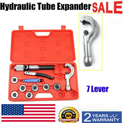 Hydraulic Tube Expander 7 Lever Tubing Expanding Device Swaging Set HVAC Tool