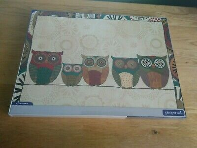 """8 X LARGE WRENDALE OFFICIAL LICENSED OWL BIRD CORK BACKED PLACEMATS 16/"""""""