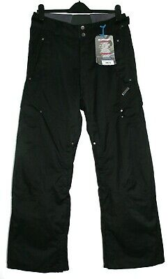 Men's SURFANIC Black Slacker Recycled Print Snowboard Pants NEW Size: S RRP: £90