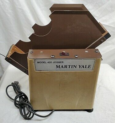 Martin Yale - Model 400 - Table Top Paper Jogger  - Tested - Works - READ - #2