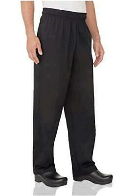 Chef Works Men's Essential Baggy Chef Pants, Black, Size 5.0 ZrTs