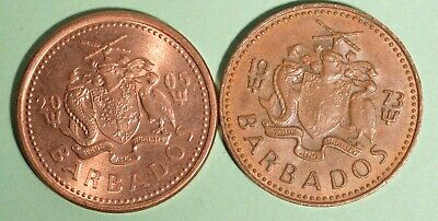 2005 + 1973 Barbados One Cents - INV# L-65
