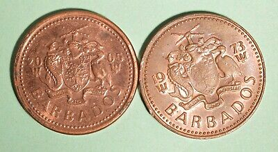 2005 + 1973 Barbados One Cents - INV# L-64