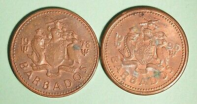 1996 + 1978 Barbados One Cents - INV# L-55