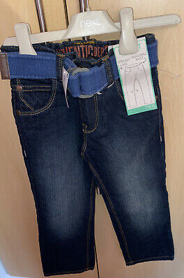 Next Boys Age 4 Years Straight Leg Jeans Brand New With Tags And Belted