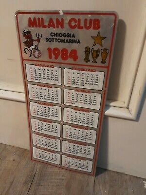 Calendario Milan Club Chioggia 1984 metallo