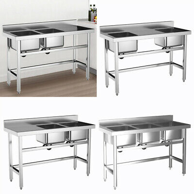Commercial Stainless Steel Single Bowl Sink Restaurant Catering Kitchen Stand