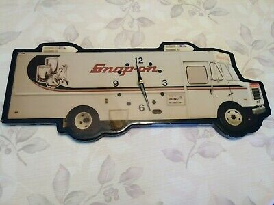 Snap On Tools Truck Vintage Rare Clock Sign