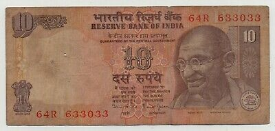 India 10 Rupees 2008 Pick 95 Look Scans