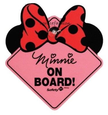 NEW Safety 1st Disney Baby Girl Minnie Mouse On Board Car Decal Sign Shower Gift