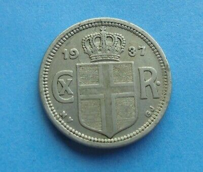 Iceland, 25 Aurar 1937, as shown.