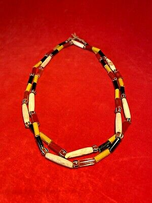 Rare Outstanding Early Venetian Glass Native American Trade Bead Necklace